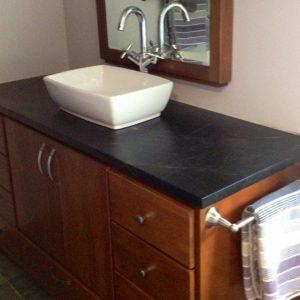 Soapstone Vanity with Vessel Sink 2