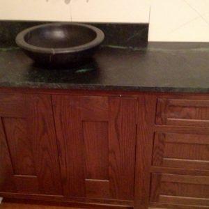 Soapstone Vanity with Vessel Sink